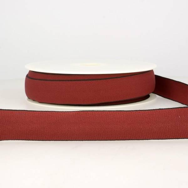 Bilde av Elastisk bånd 2,5cm bredt, bordeaux