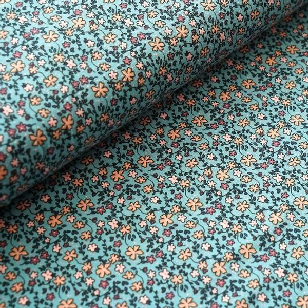 Bilde av Økologisk jersey, missi flowers blå