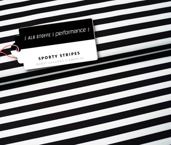 Bilde av Activewear jersey striper svart/hvit