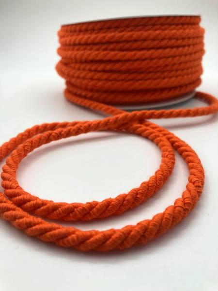 Bilde av Tvunnet hettegenserbånd orange, 5mm